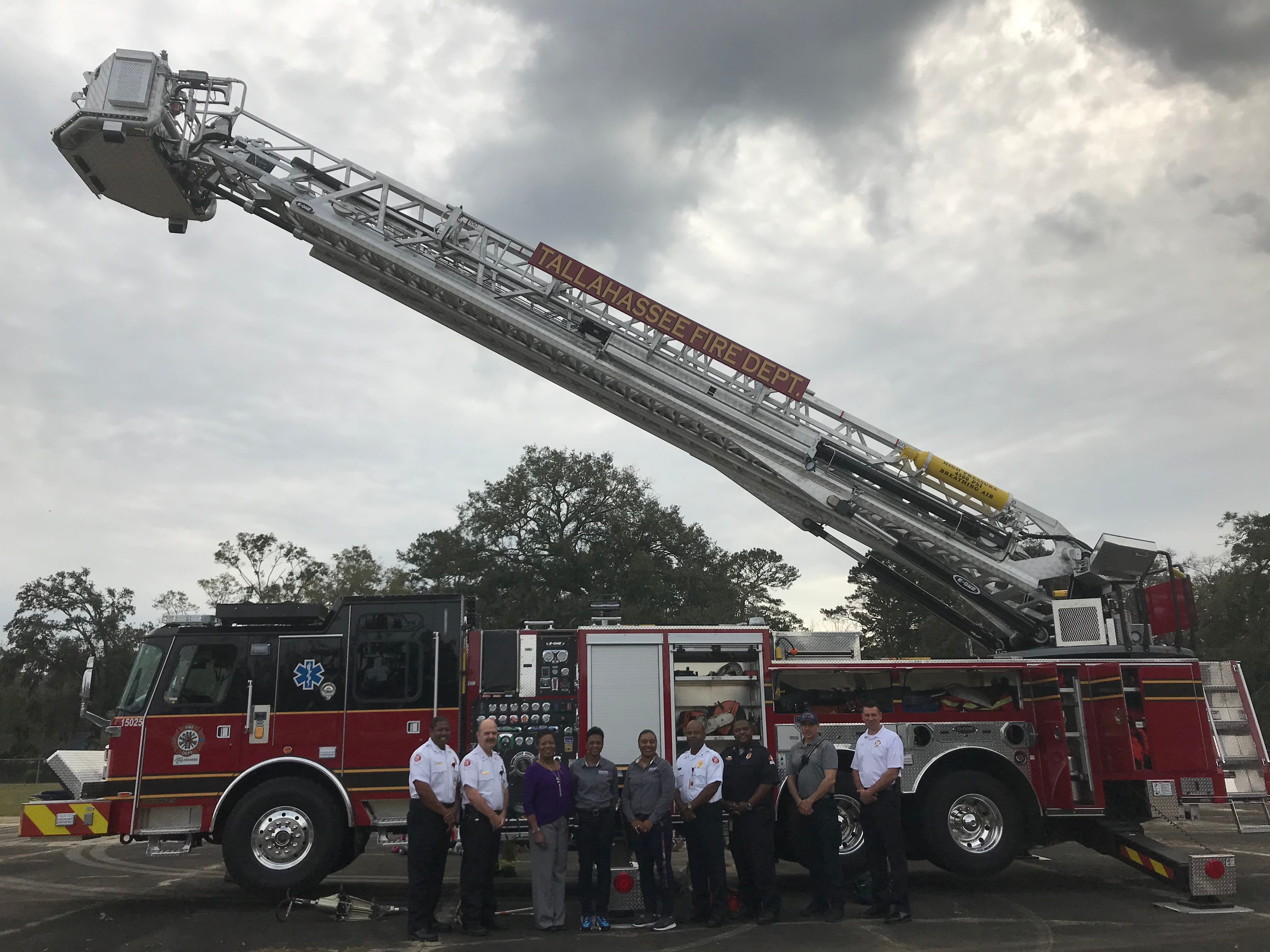 Tallahassee Fire Department visited Sabal Palm Elementary Friday to talk fire safety.