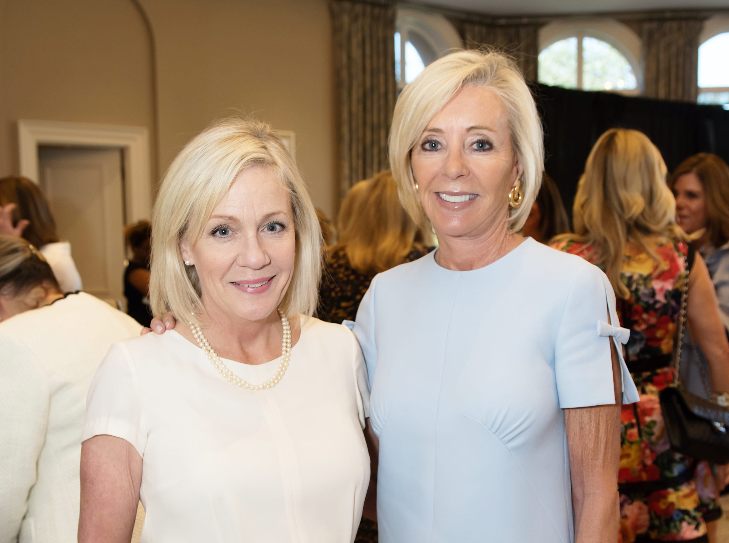 Mary Blaisdell and Christine Nixon at the Golden Heart Luncheon in Palm Beach Gardens.