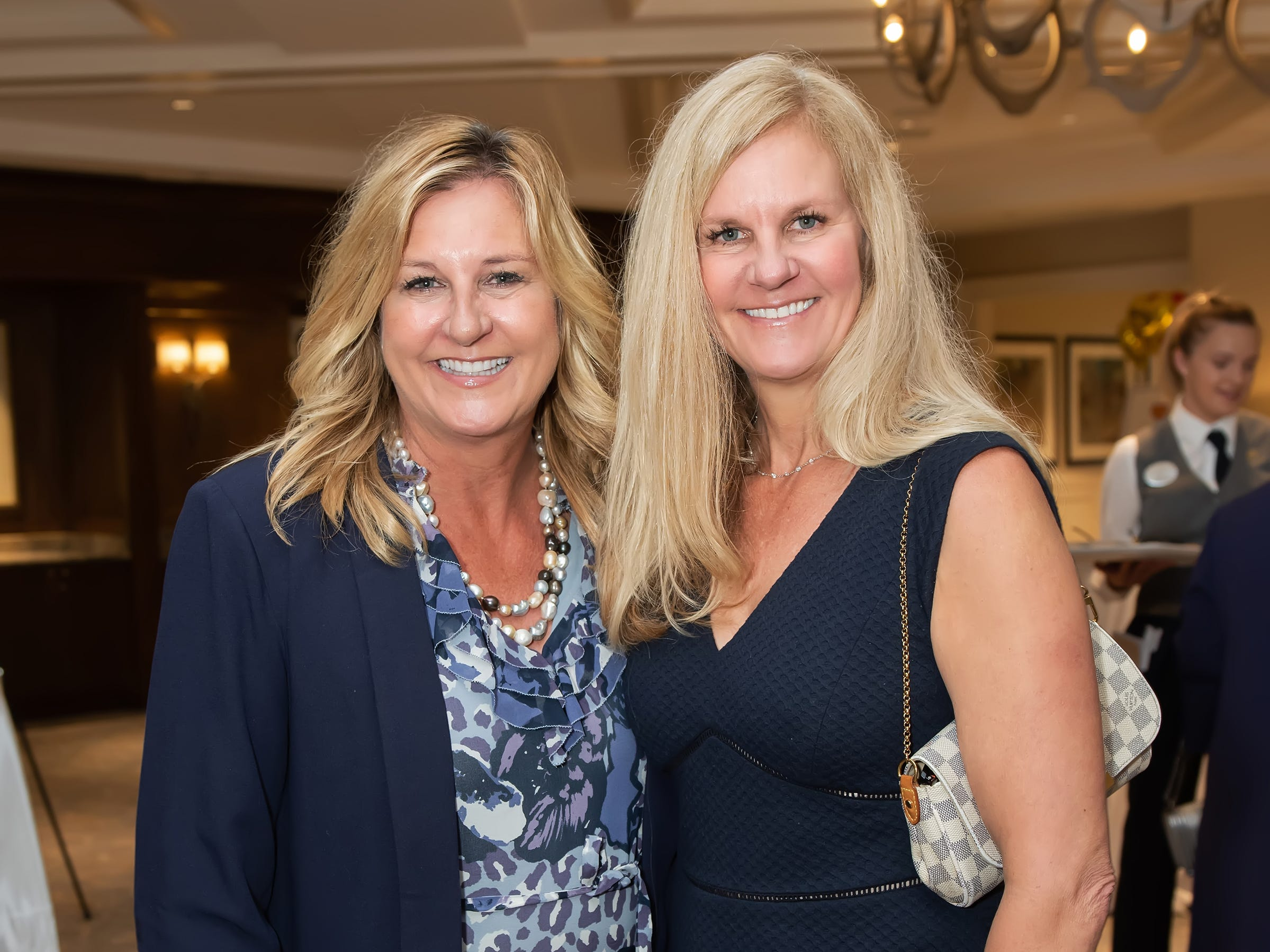 Kelly Kennerly, left, and Maureen Johnston at the Golden Heart Luncheon in Palm Beach Gardens.