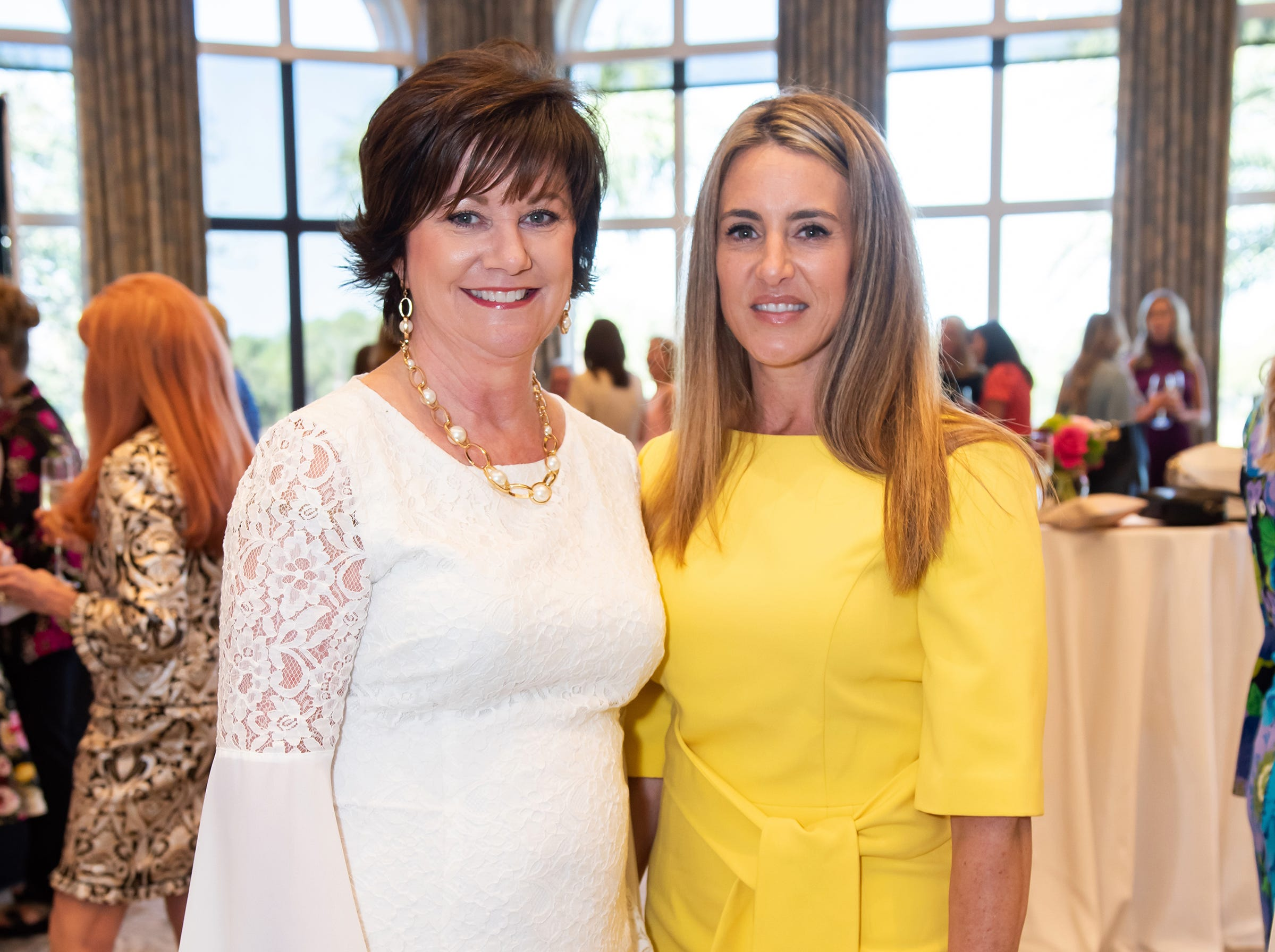 Patty McDonald and Joy Casciano at the Golden Heart Luncheon in Palm Beach Gardens.