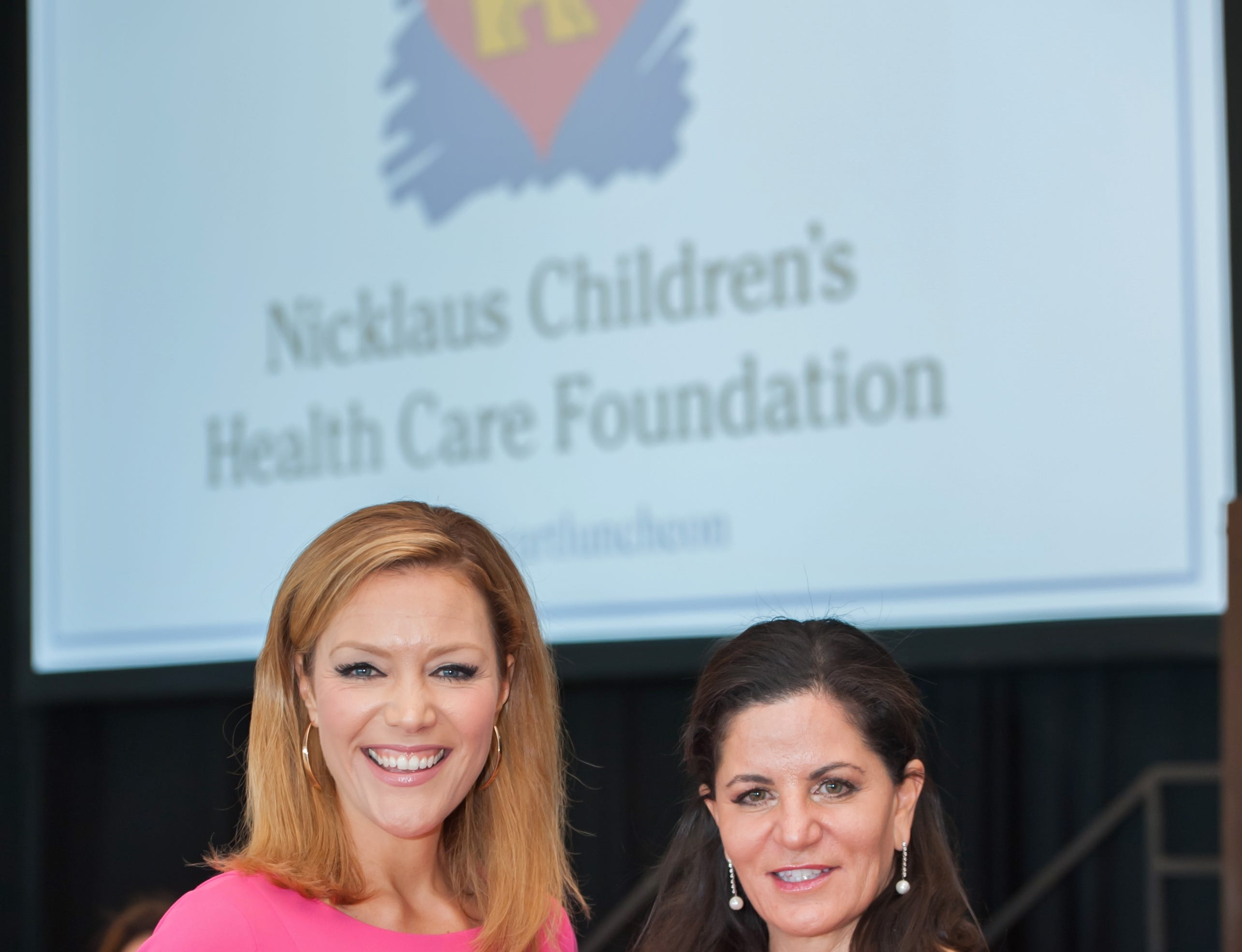 Shannon Cake and Dr. Kristine Guleserian at the Golden Heart Luncheon in Palm Beach Gardens.