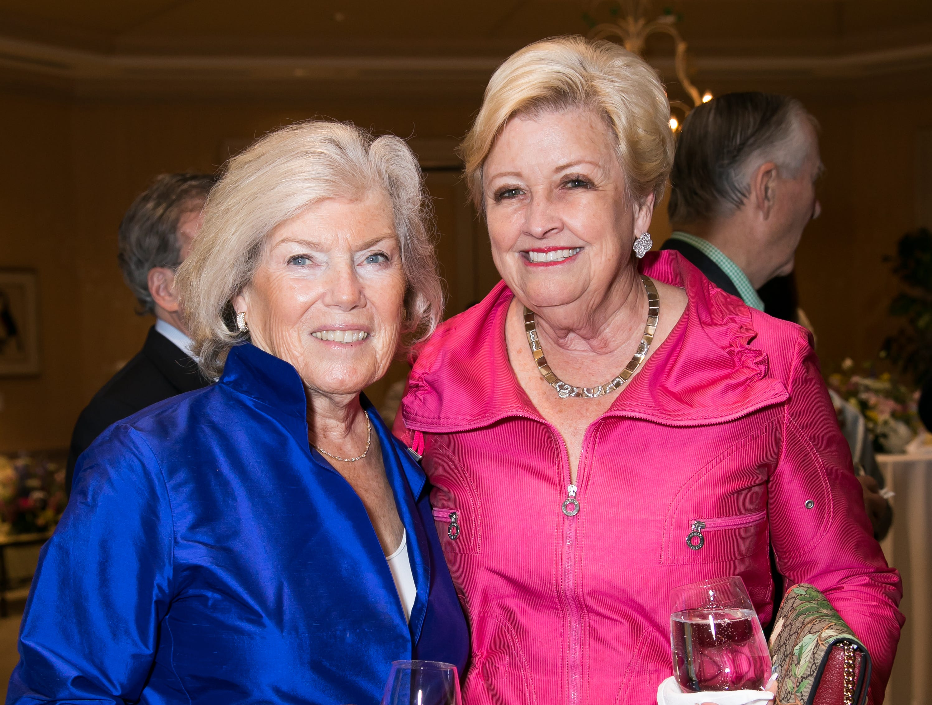 Joan Litle, left, and Sheri Reback at a reception to learn about Jupiter Medical Center's Comprehensive Stroke Center.