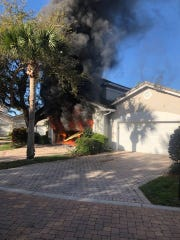 A home in the 400 block of North Peppertree Drive caught fire about 9:15 a.m. Feb. 15, 2019.