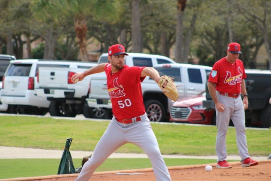 Cardinals pitcher Adam Wainwright,  coming off of minor elbow surgery in 2017 and a 2018 record of 2-4 and 4.46 ERA, might have bigger expectations for himself than anyone else during Spring Training and this MLB season.