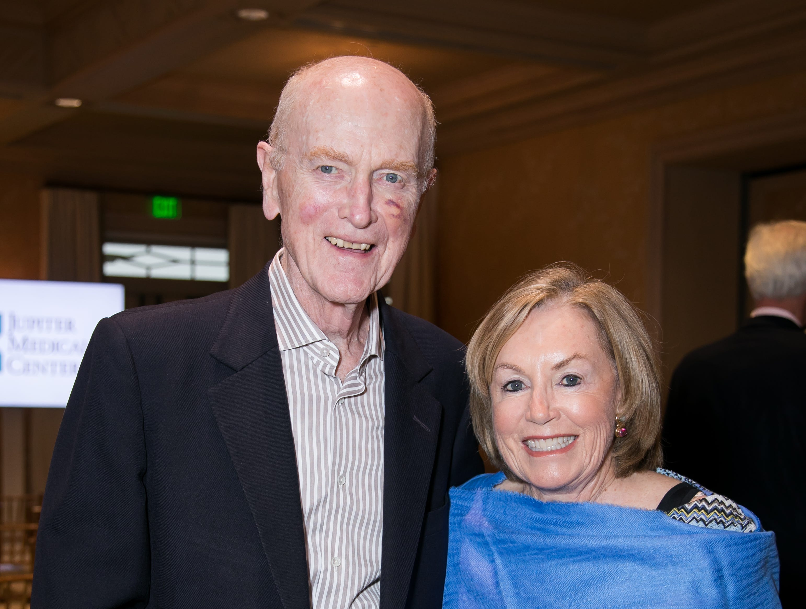 John and Elin Harris at a reception to learn about Jupiter Medical Center's Comprehensive Stroke Center.