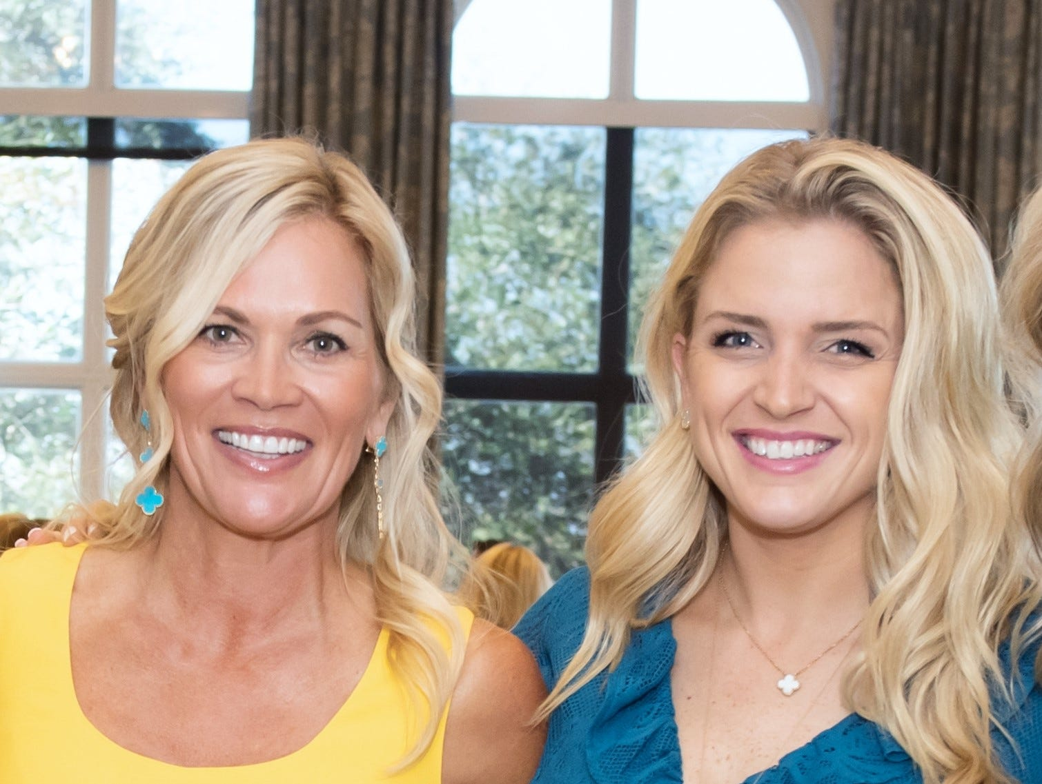 Alli Nicklaus, left, and Christie Nicklaus at the Golden Heart Luncheon in Palm Beach Gardens.