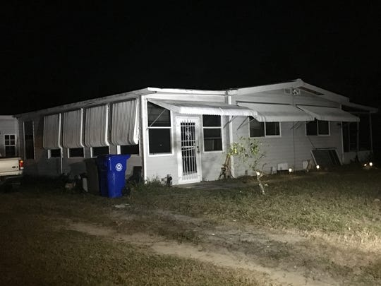 A Sebastian man remains hospitalized after a fire broke out at his home on Valencia Street on Saturday, Feb. 9, 2019.