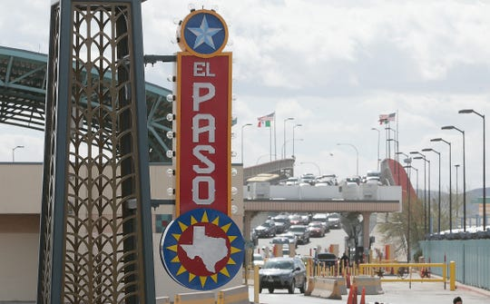 People move back and forth across the Paso Del Norte International Bridge in Downtown El Paso on Friday afternoon, Feb. 15, 2019.