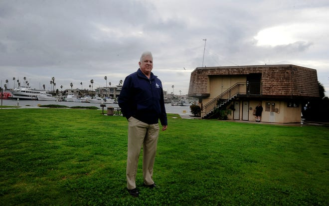 Channel Islands Harbor Director Mark Sandoval is shown at Peninsula Park at Oxnard harbor.