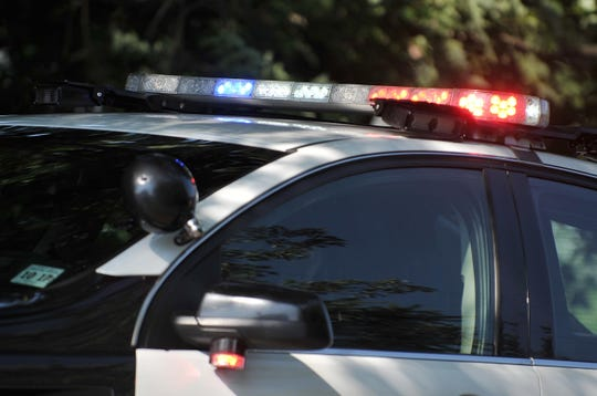 Police, police car, police lights, light bar, flashing lights, for carousel. Staff Photo/Sean M. Fitzgerald