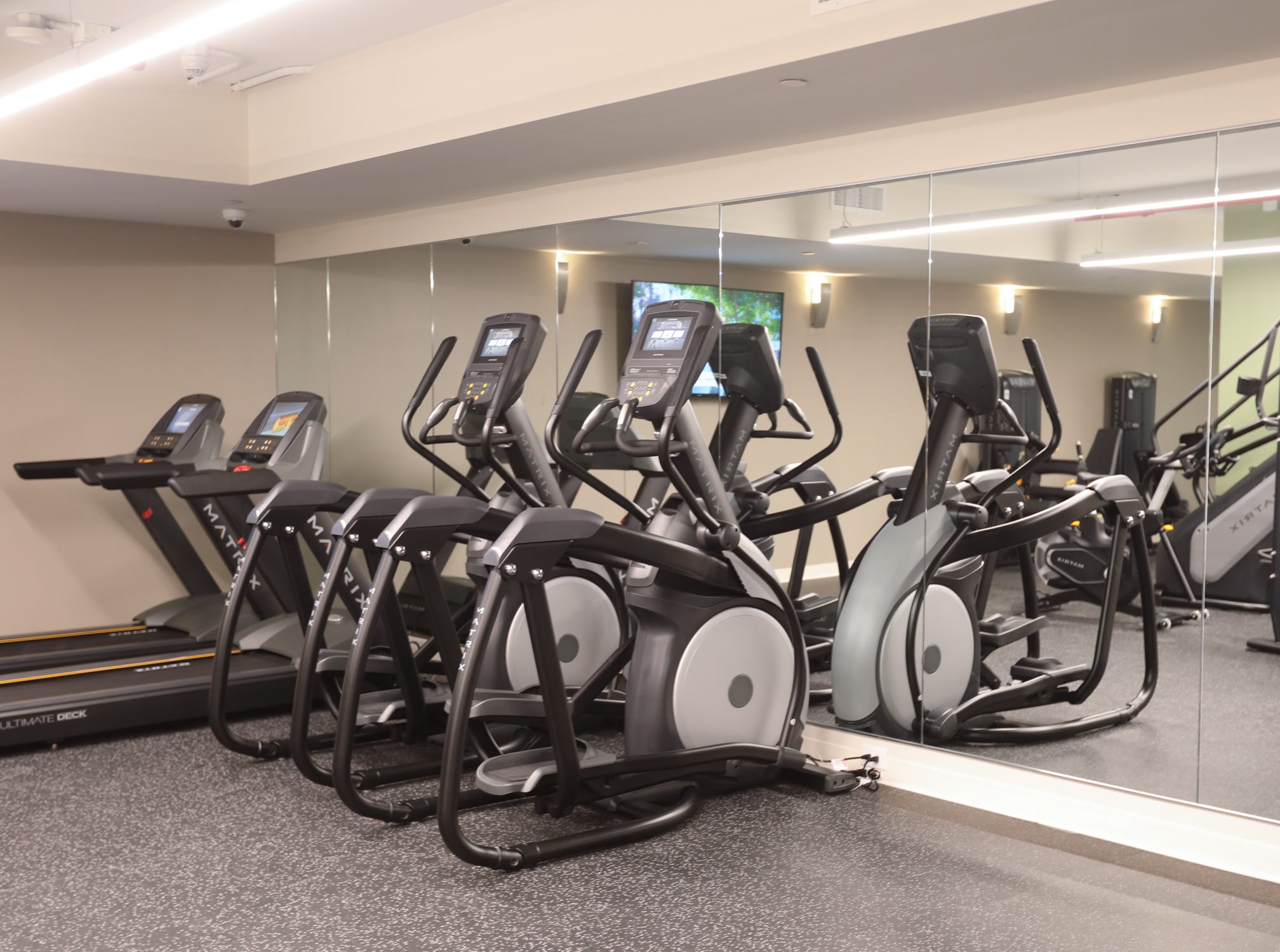 The gym at The River Club at Hudson Park in Yonkers on Friday, February 15, 2019.