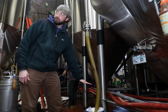 Captain Lawrence brewing manager JD Hessemer talks about brewing the new Captain Lawrence/Carvel collaboration at the brewery Feb. 8, 2019 in Elmsford. They will be making Cookie Puss Birthday Beer and Cookie O' Puss St. PatrickÕs Day Stout, in time for St. PatrickÕs Day 2019.