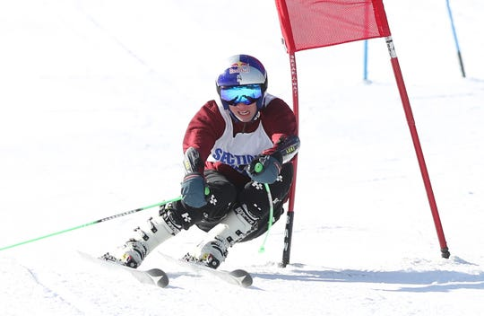 Scarsdale's Jared Blinken competes in the Section 1 ski championships at Catamount Mountain in Hillsdale, N.Y. Feb. 14,  2019.
