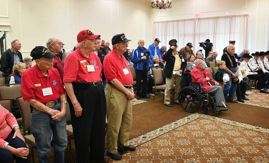 Iwo Jima and World War II veterans were recognized and honored during the kick off of the Iwo Jima and World War II Veterans Reunion Friday morning.