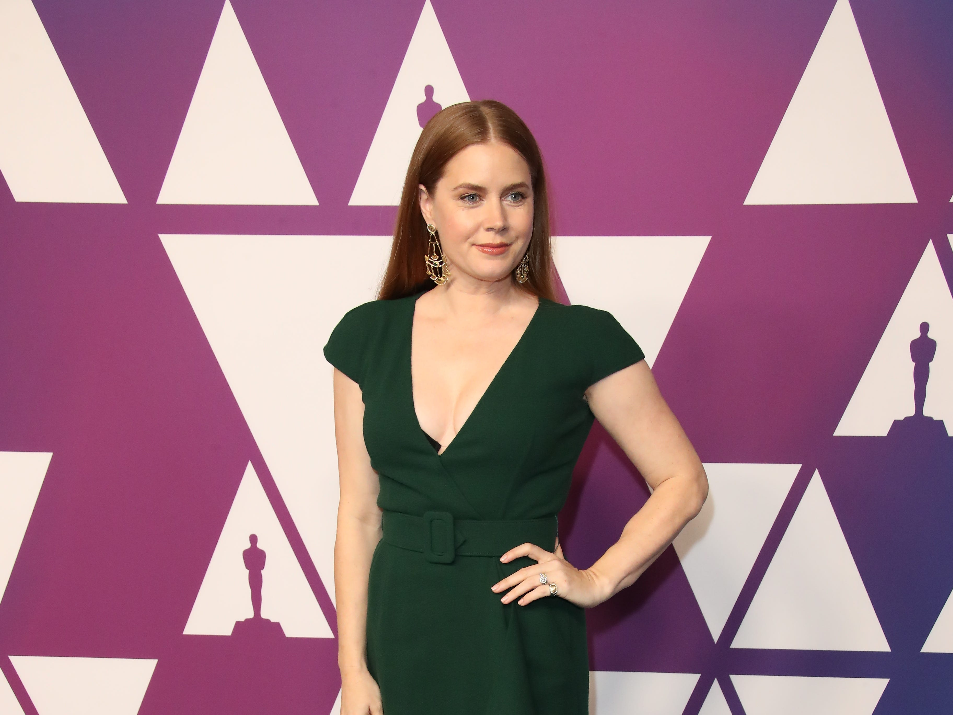 2/4/19 12:29:49 PM -- Beverly Hills, CA, U.S.A  -- Amy Adams arrives at the 91st Oscar nominees luncheon at the Beverly Hilton Hotel in Beverly Hills, CA--    Photo by Dan MacMedan, USA TODAY contract photographer ORG XMIT:  DM 137796 OscarNomineesLun 2/4/2019 [Via MerlinFTP Drop]