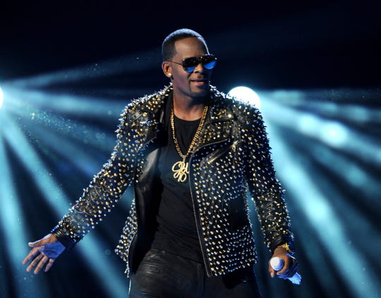 R. Kelly performs at the BET Awards in Los Angeles in June 2013.