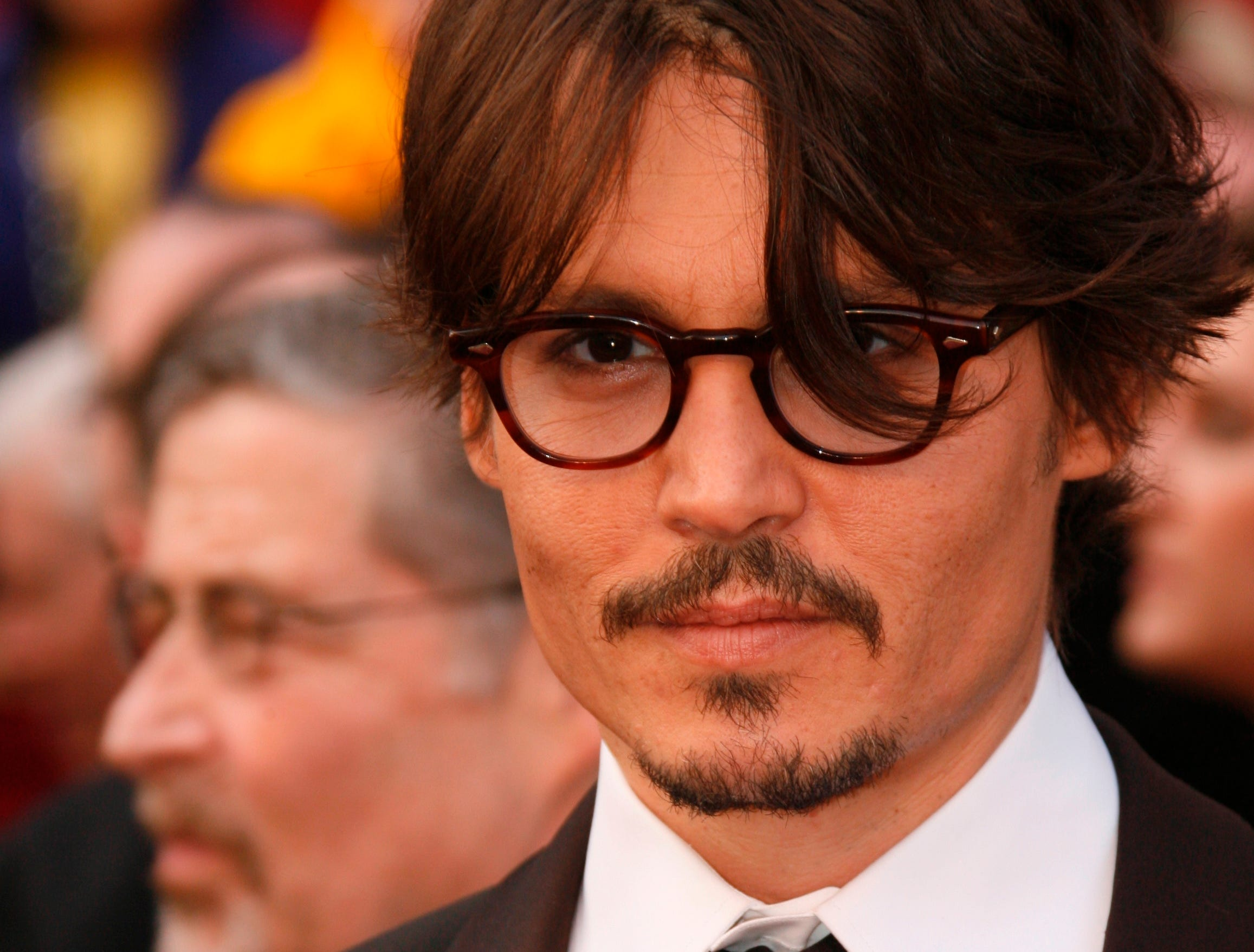 2/24/08 4:53:15 PM -- Los Angeles, CA, U.S.A -- Johnny Depp arrives at the 80th annual Academy Awards at the Kodak Theater.  Photo by Dan MacMedan, USA TODAY contract photographer   ORG XMIT: DM 33534 OSCARS 2/20/2008  (Via MerlinFTP Drop)