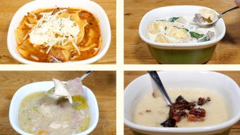 Reinvent your favorite meals into warm and yummy soups with these slow cooker recipes!