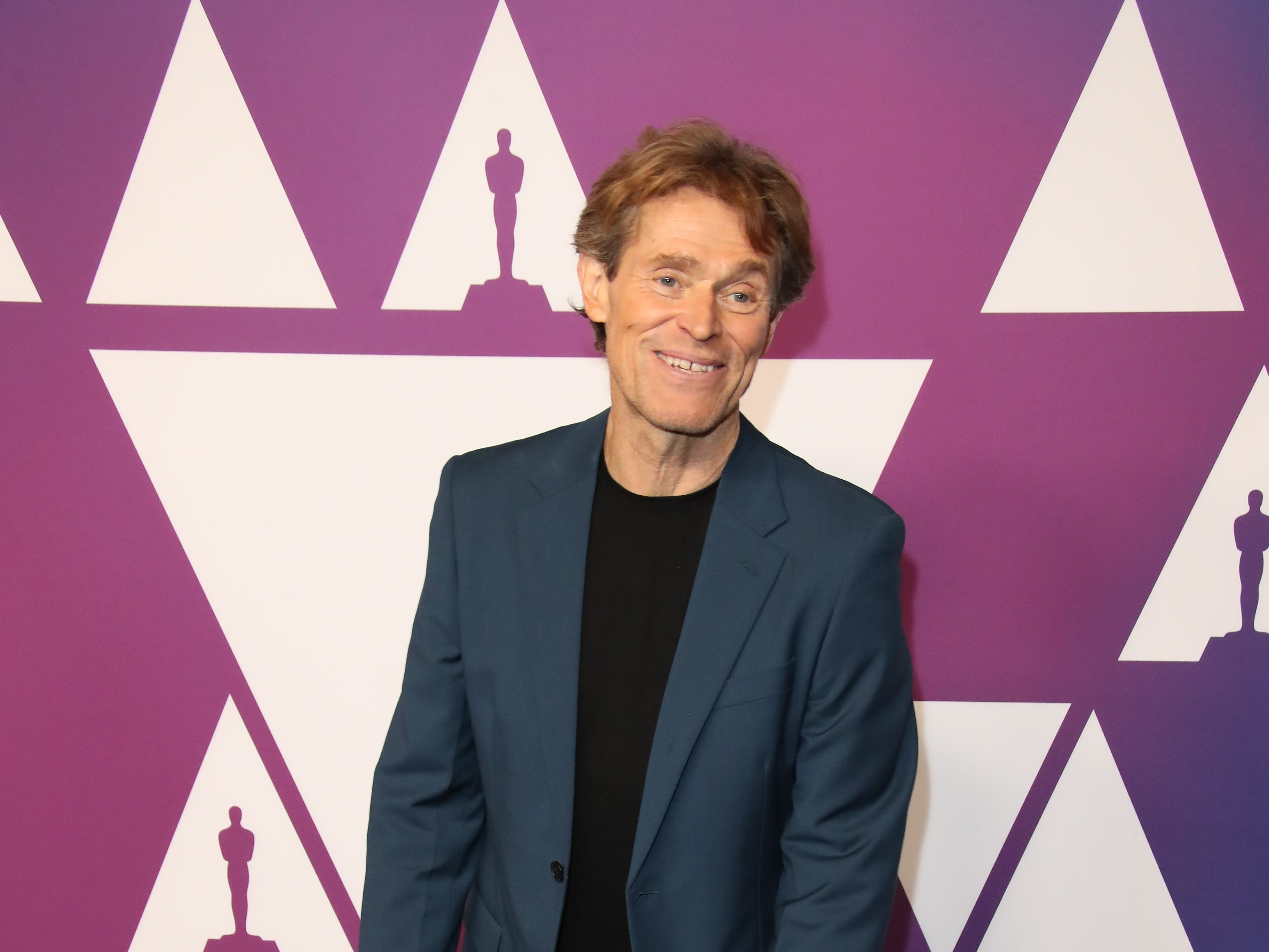 2/4/19 12:06:59 PM -- Beverly Hills, CA, U.S.A  -- Willem Dafoe arrives at the 91st Oscar nominees luncheon at the Beverly Hilton Hotel in Beverly Hills, CA--    Photo by Dan MacMedan, USA TODAY contract photographer ORG XMIT:  DM 137796 OscarNomineesLun 2/4/2019 [Via MerlinFTP Drop]
