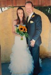 Dan Ferguson with his daughter, Mandy, at her wedding on June 21, 2014, in El Paso, Texas.