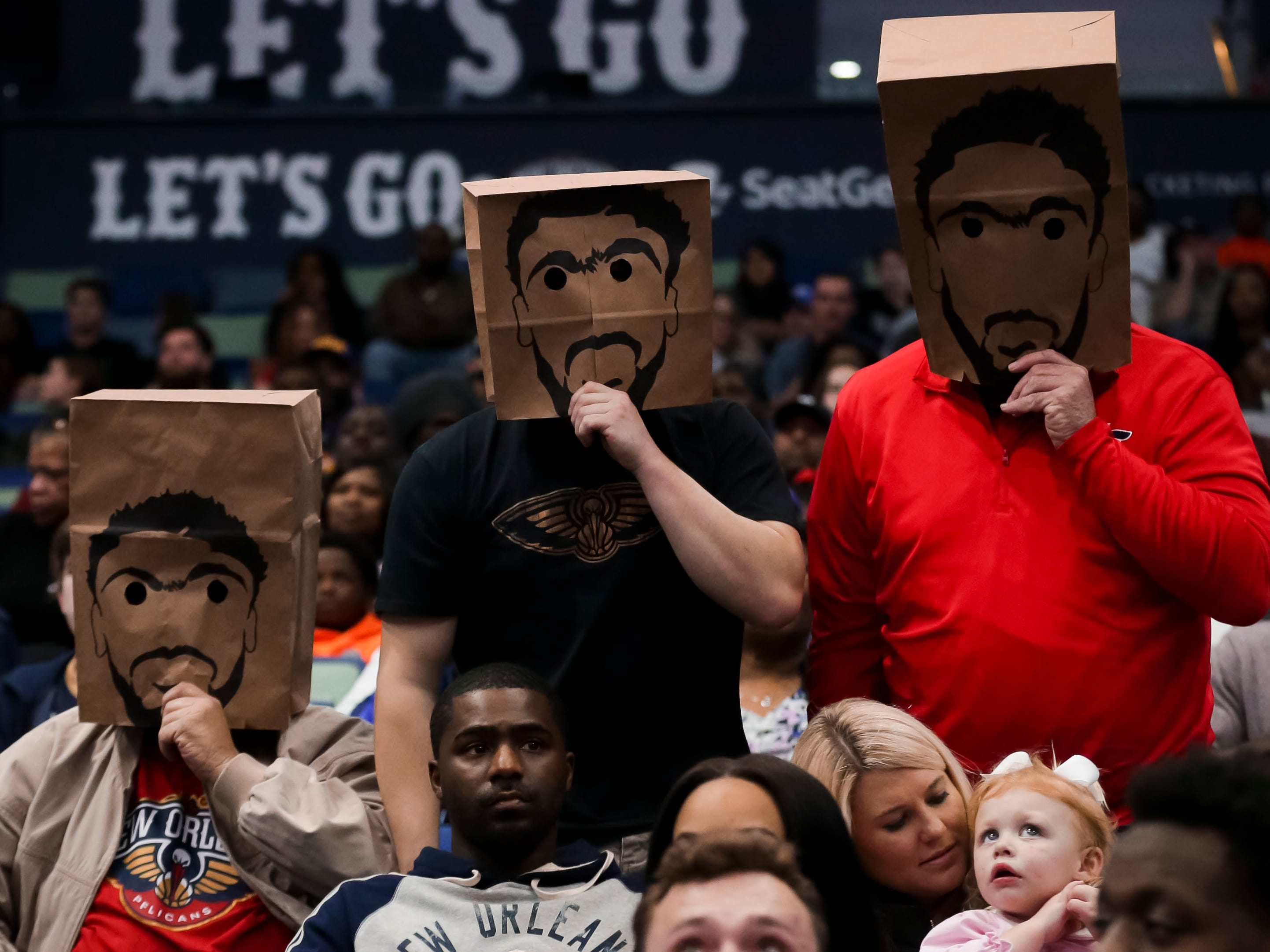 Feb. 14: Some Pelicans fans weren't in the mood to cheer for Anthony Davis against the Thunder in New Orleans.