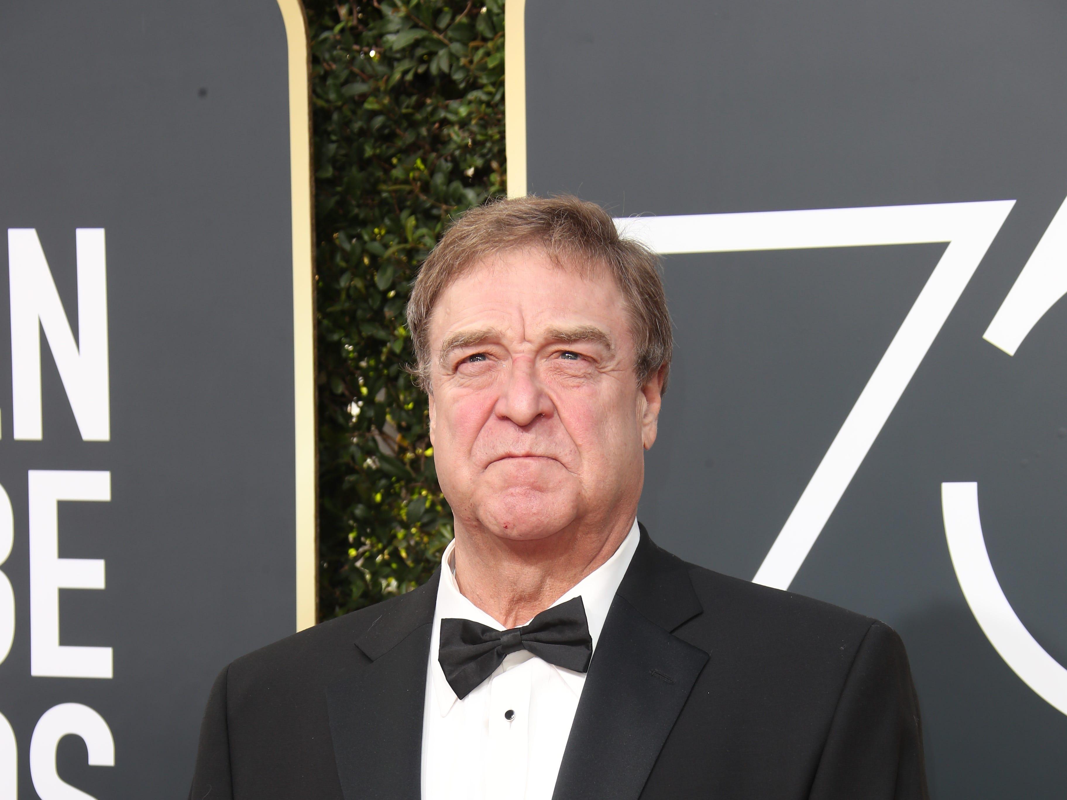 Jan 7, 2018; Beverly Hills, CA, USA; John Goodman arrives for the 75th Golden Globe Awards at the Beverly Hilton. Mandatory Credit: Dan MacMedan-USA TODAY NETWORK (Via OlyDrop)