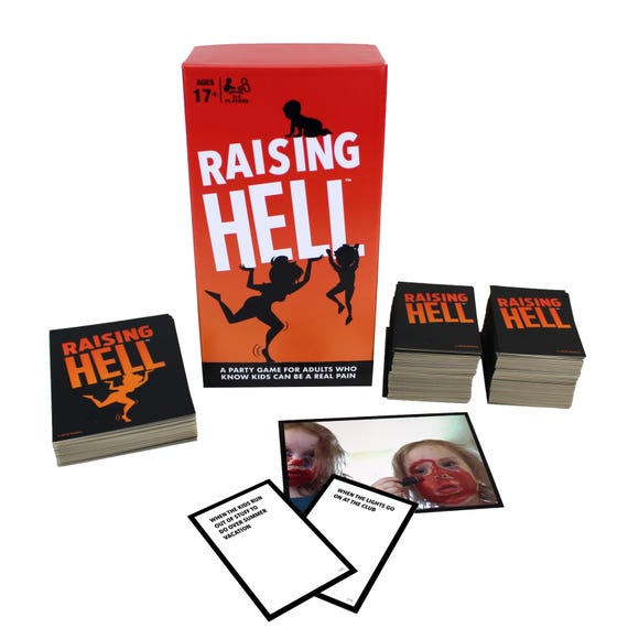 Hasbro's new Raising Hell game will make parents laugh about kids so they don't cry