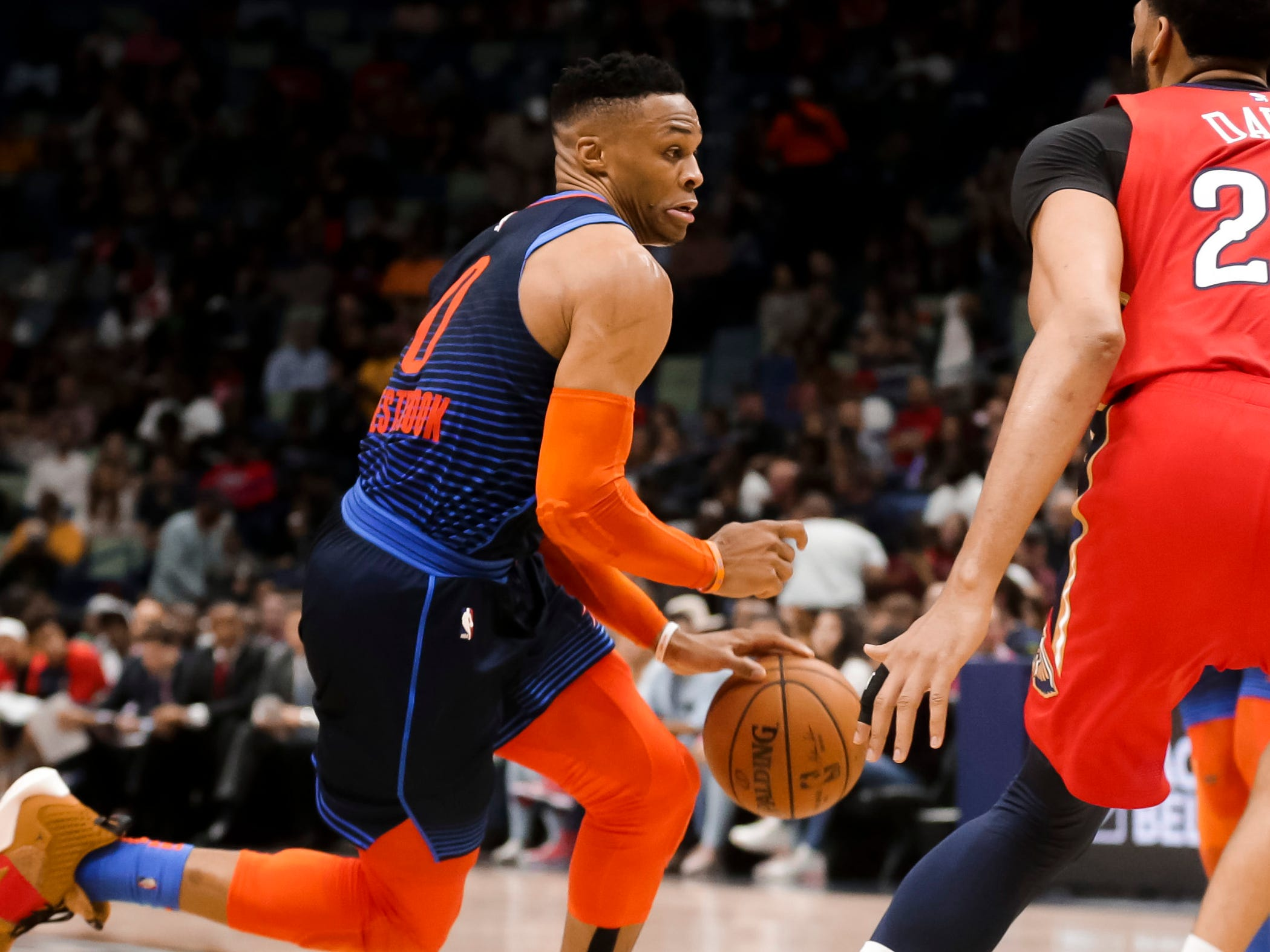 85. Russell Westbrook, Thunder (Feb. 14): 44 points, 14 rebounds, 11 assists in 131-122 loss to Pelicans (24th of season).