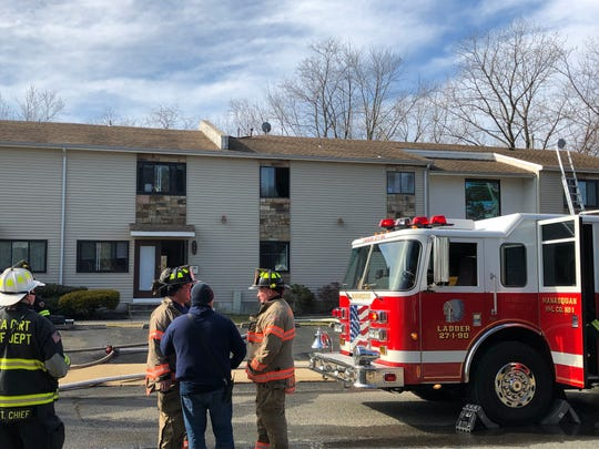 Firefighters from at least four towns responded Saturday morning to quickly extinguish a fire in a Curtis Avenue condominium.