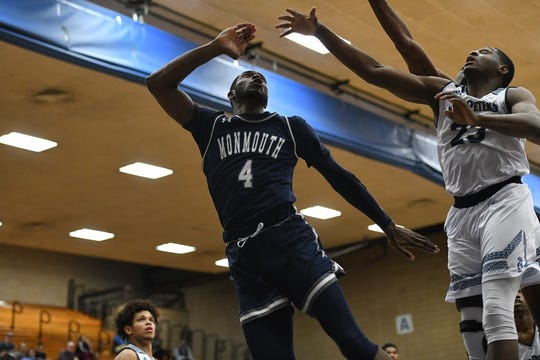 Monmouth's Mustapha Traore.