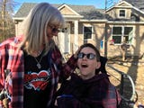 Kim Falzarano thanks the community for  helping her disabled son Val get his own bedroom and an accessible bathroom in their Berkeley home.