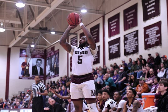After four years, McMurry's Shakur Smith (5) will play in his first American Southwest Conference tournament this week. The War Hawks will face Texas-Dallas in the quarterfinals at 7:30 p.m. Thursday.