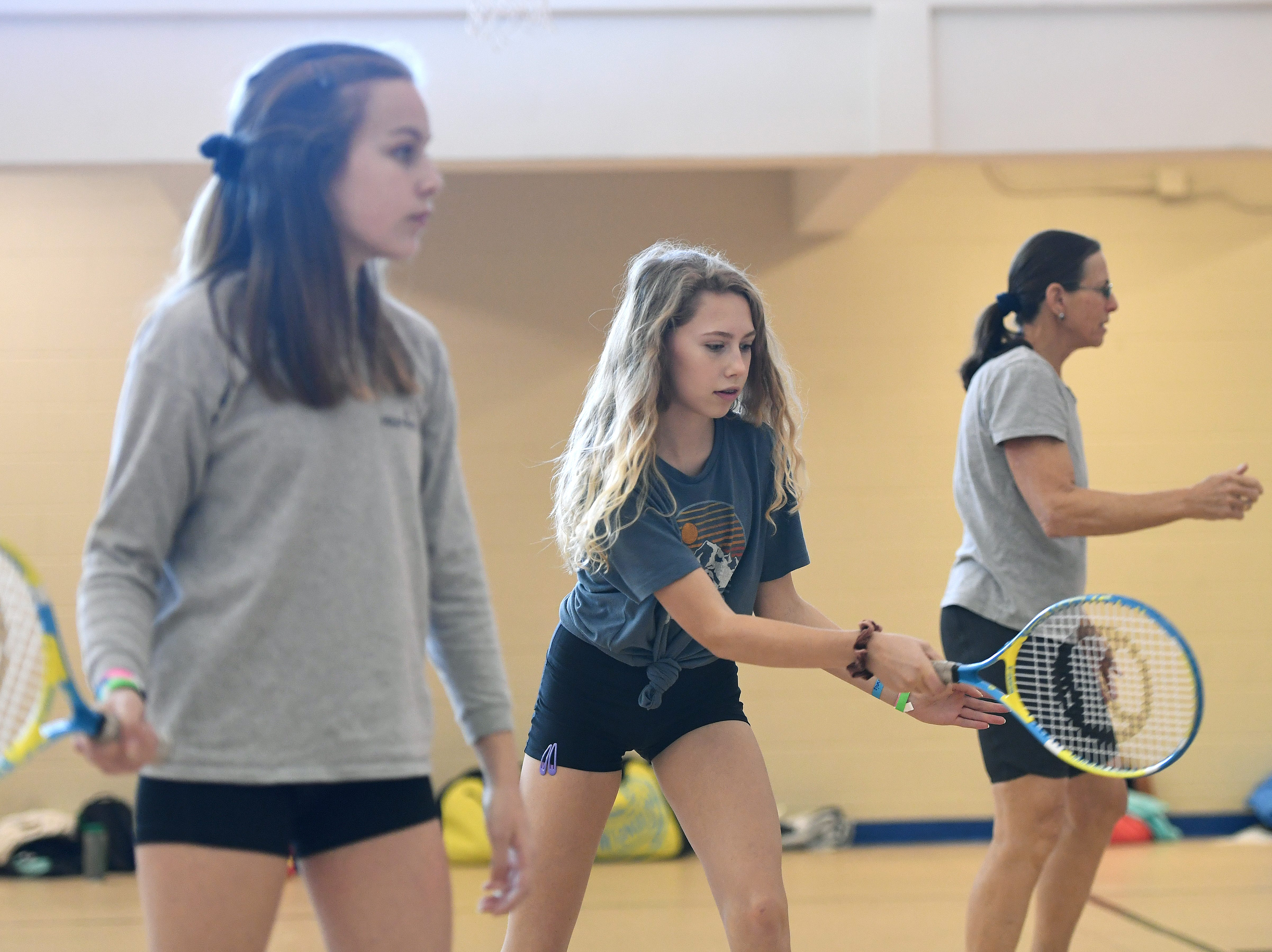 Girls had a chance to try their hand at new sports during the National Girls and Women in Sports Day hosted by Asheville Parks and Recreation and Buncombe County Recreation Services at UNC Asheville on Feb. 16, 2019.
