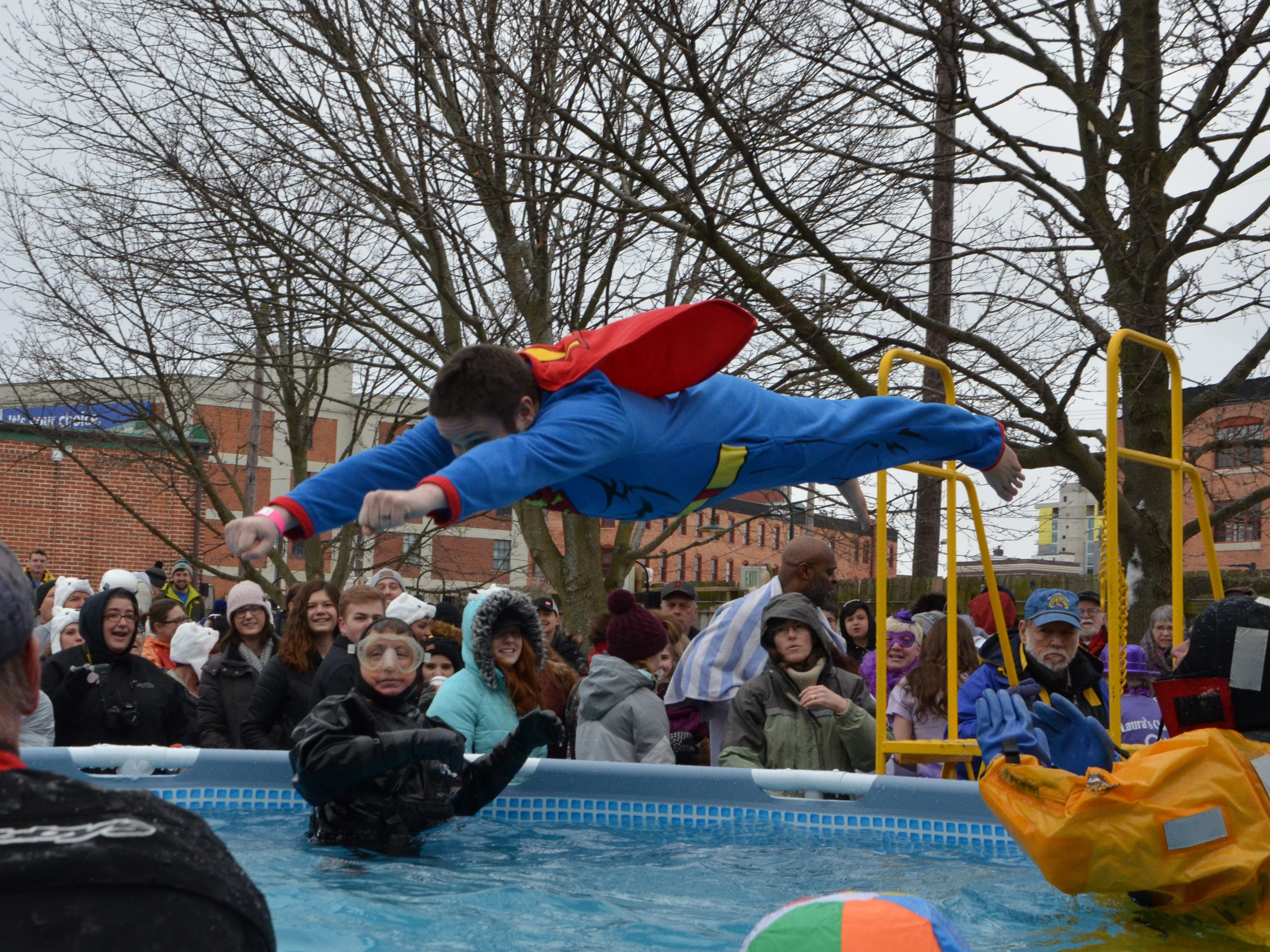 The Calhoun and Kalamazoo County Polar Plunge for Special Olympics Michigan at Bell's Eccentric Cafe in Kalamazoo on Saturday, February 16, 2019.
