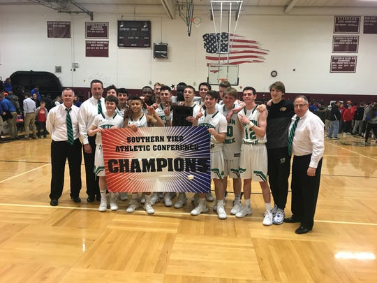 Seton Catholic Central fellas retain Southern Tier Athletic Conference basketball championship.
