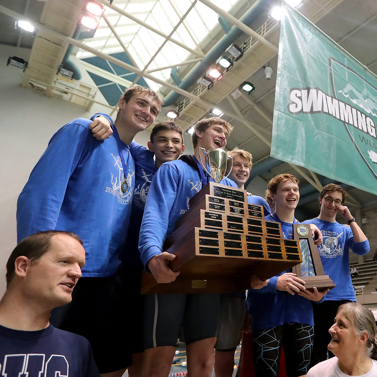 'Magnificent Six' lead Trojans to state swimming title