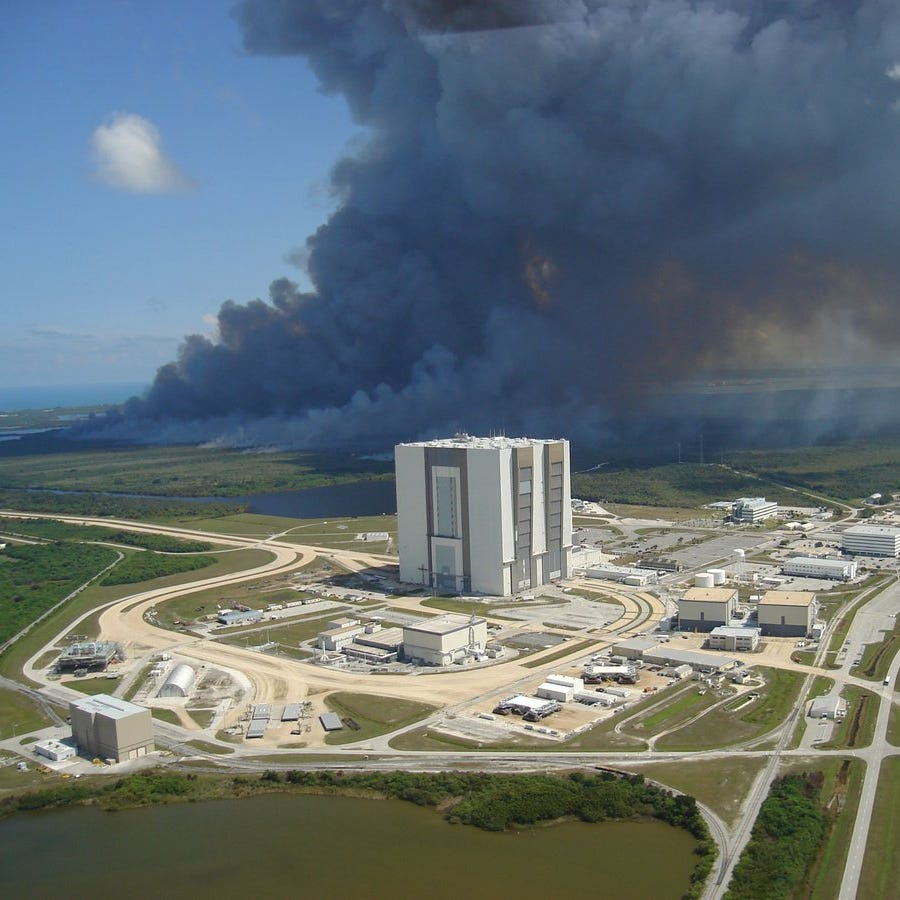 Seeing smoke? Prescribed fire near Kennedy Space Center today