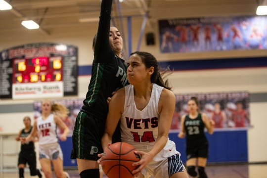 Veterans Memorial defeats Brownsville Pace 46-30 in their Class 5A area round game at Veterans Memorial High School on Friday, 15, 2019.