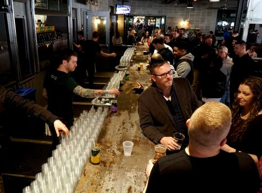 Organizers expected a crowd of over 10,000 at MadTree Brewing's Winter Bonanza, Feb. 19, 2019.