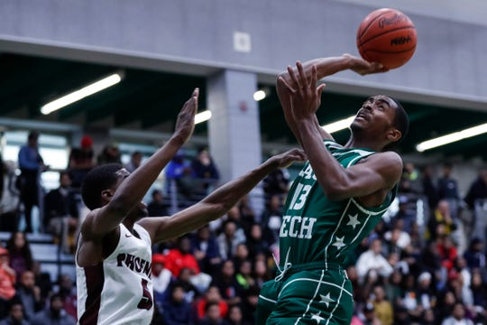 Cass Tech's Kalil Whitehead shoots against Renaissance during the PSL boys basketball championship game Feb. 15.