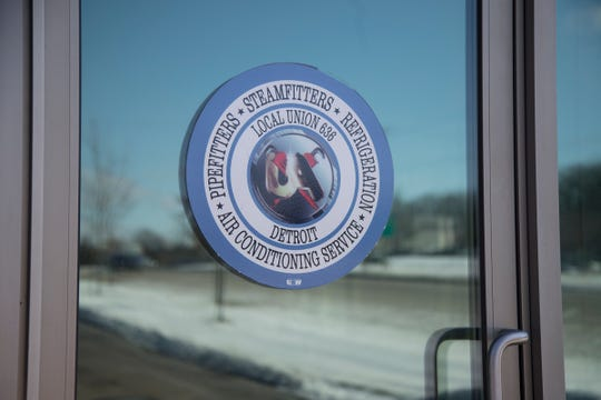 United Association Local 636 for pipefitter, steamfitter, HVAC and refrigeration building located on Northwestern Highway in Farmington Hills, Friday, Feb. 15, 2019.