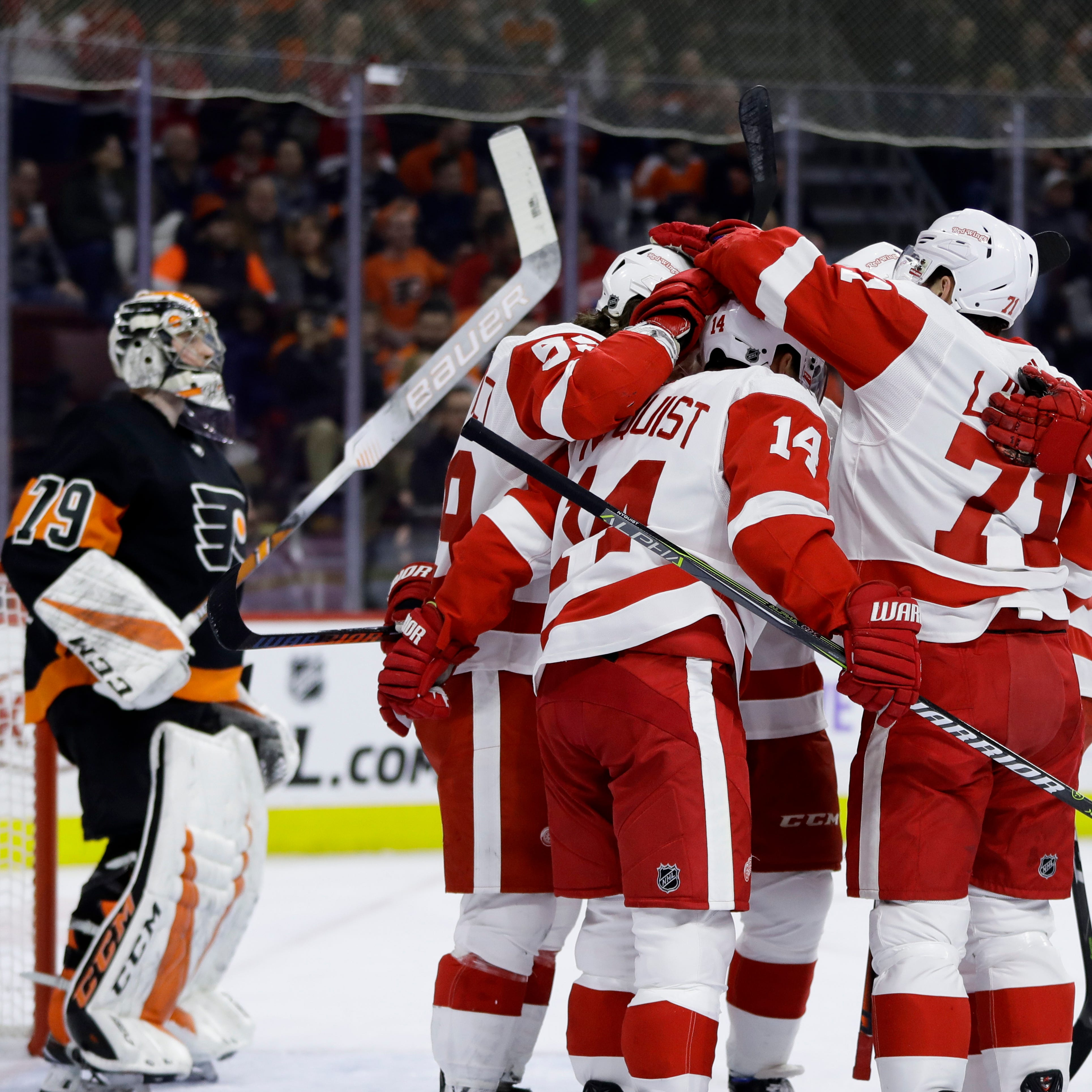 Red Wings show 18 minutes of hell vs. Flyers. Here's what they learned