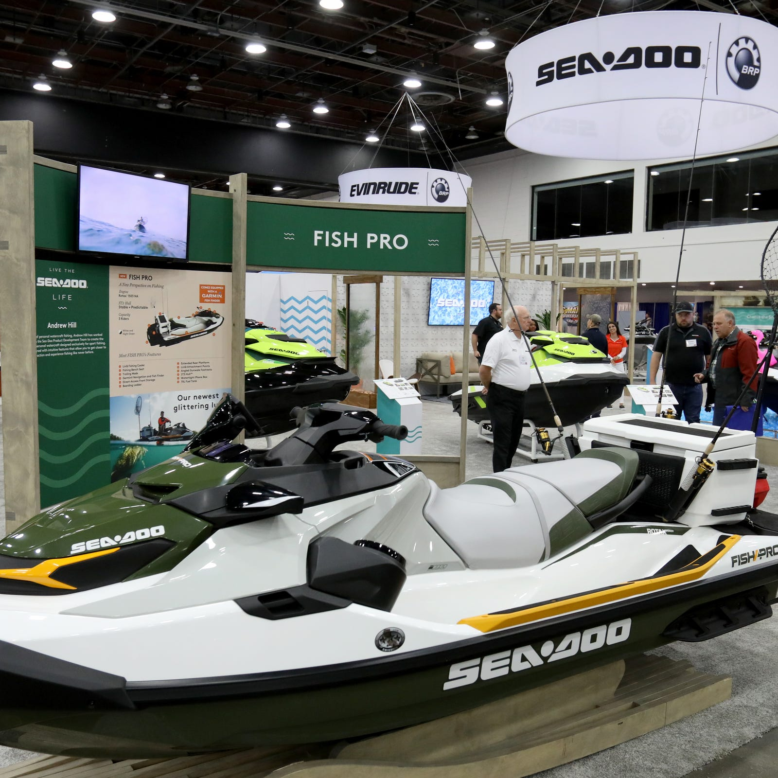 One of the newest personal watercraft on display...