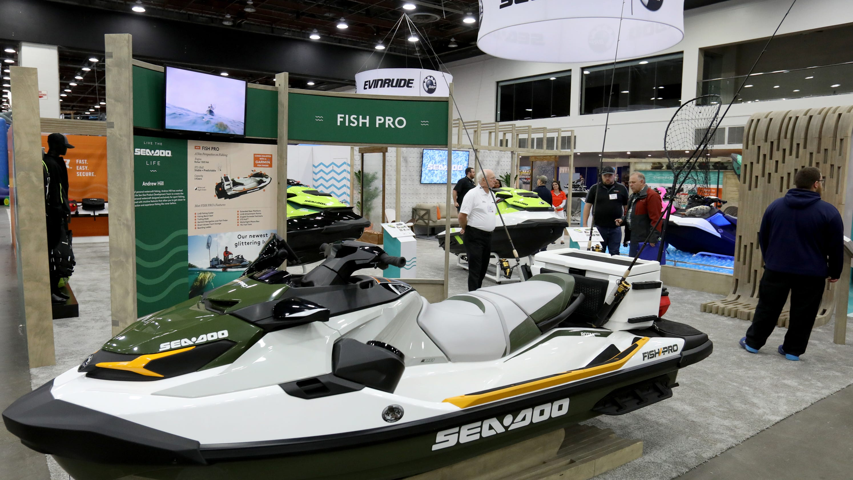 Sea-Doo unveils watercraft built for fishing in Detroit