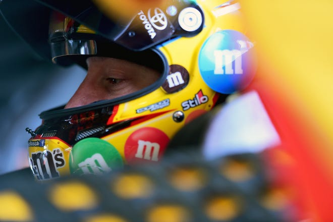 Kyle Busch during practice for the Monster Energy NASCAR Cup Series Daytona 500.