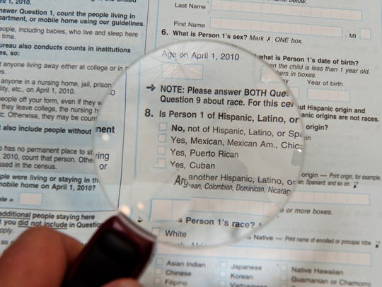 The official 2010 US Census form.