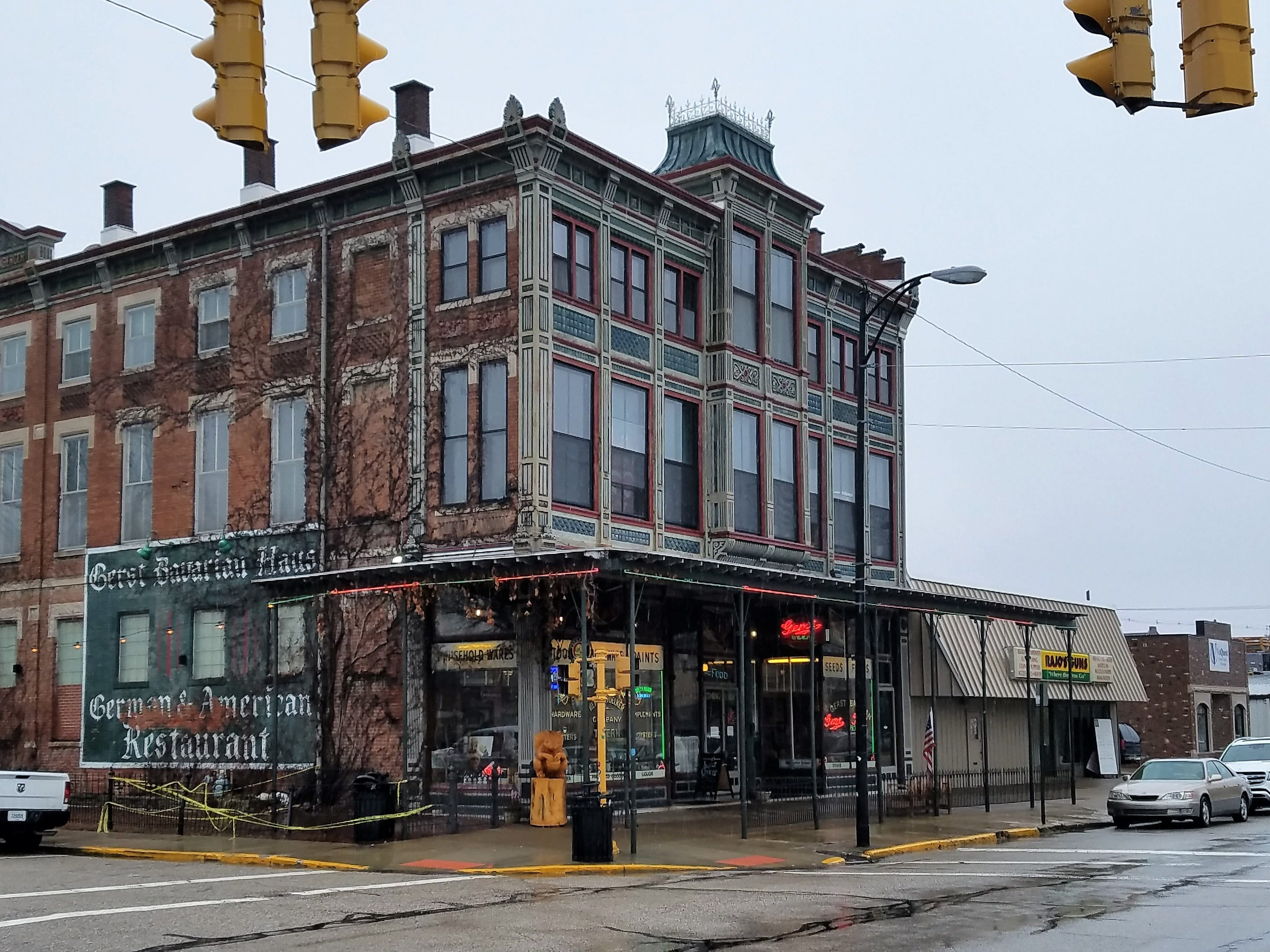 The historic Gerst Haus is located on West Franklin Street.
