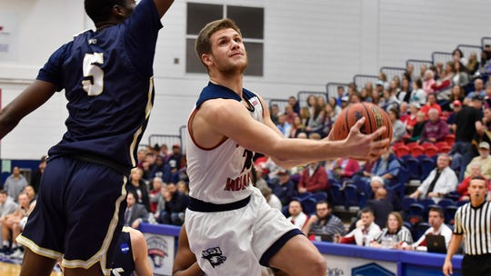 Alex Stein scored 32 points during USI's 100-72 win Saturday over Illinois-Springfield at the Physical Activities Center.