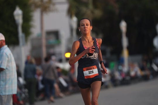 Tania Canterbury of Fort Myers finished sixth overall and took the top spot overall of the women's division with a time of 18:03.
