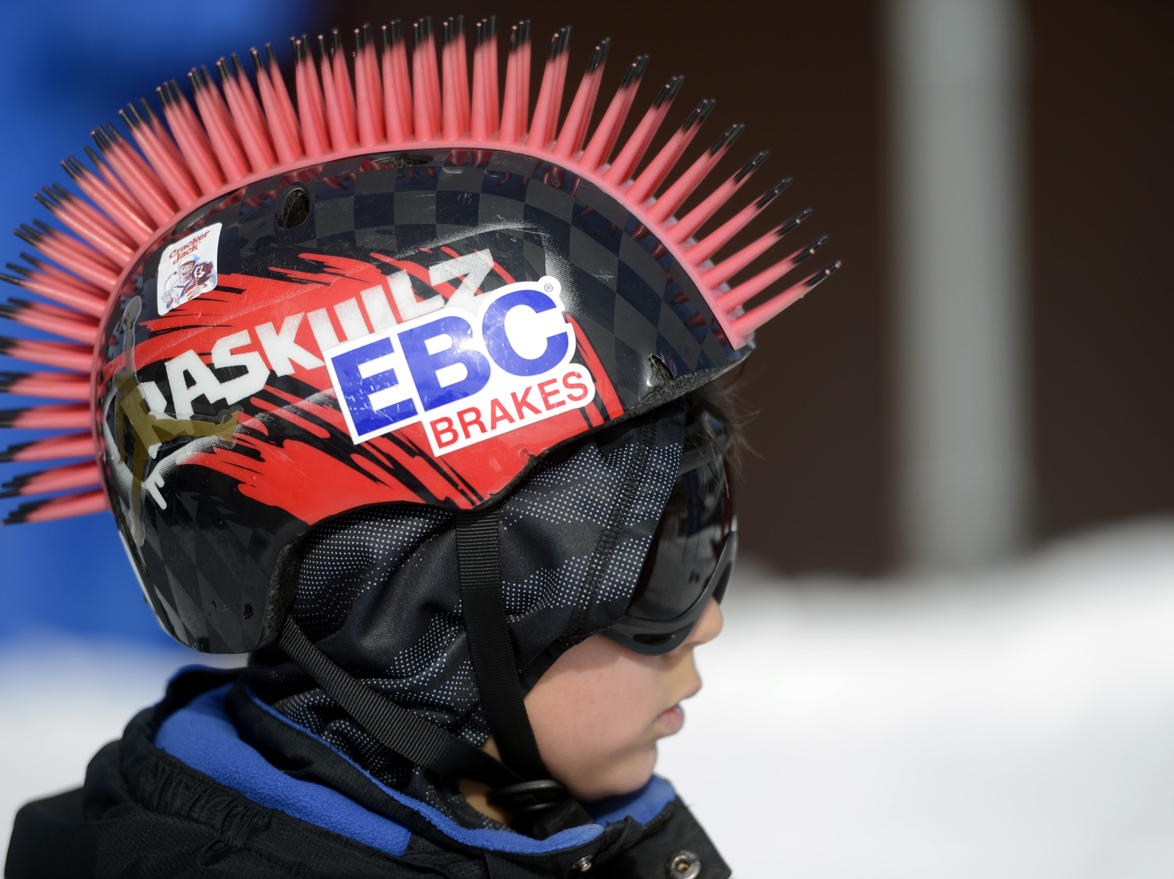 A rider waits his turn on the luge course during the Titletown Winter Games on Saturday, Feb. 16, 2019.